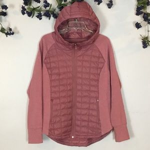 THE NORTH FACE Dusty Pink Sweatshirt Jacket Sz L